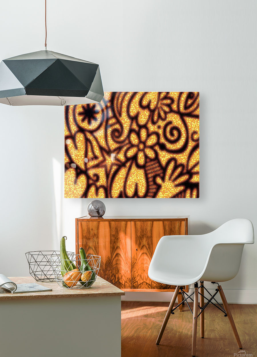 background pattern  HD Metal print with Floating Frame on Back