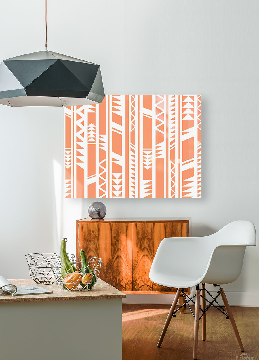 tribal pattern  HD Metal print with Floating Frame on Back