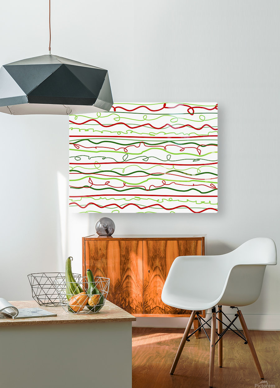 scribble pattern  HD Metal print with Floating Frame on Back