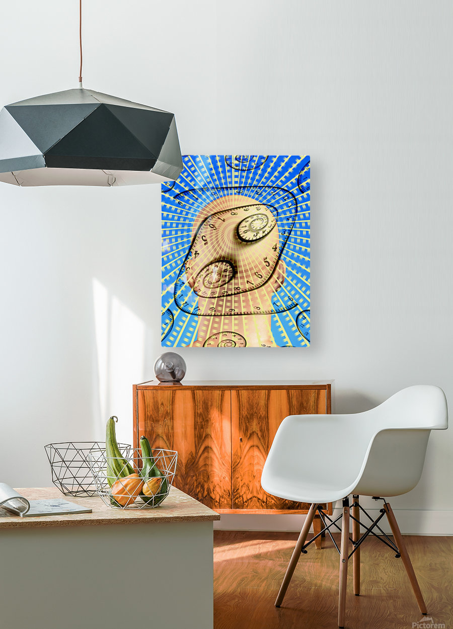 Time Bent  HD Metal print with Floating Frame on Back