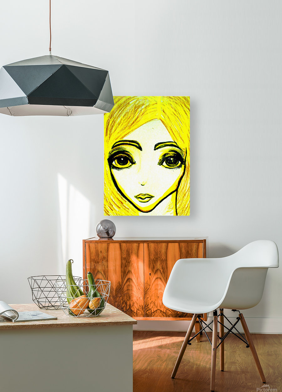 yellowgirl1  HD Metal print with Floating Frame on Back