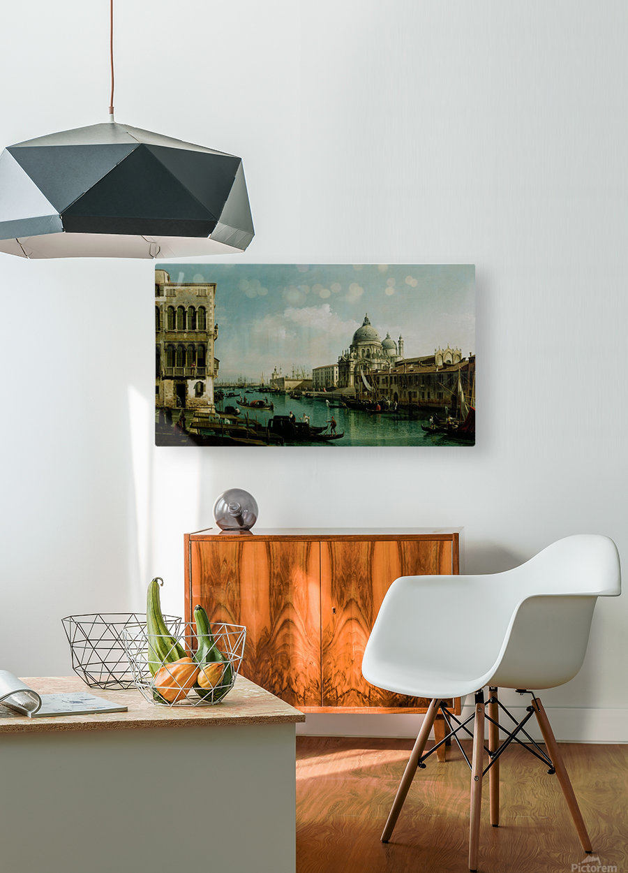 View of the Grand Canal and the Dogana  HD Metal print with Floating Frame on Back