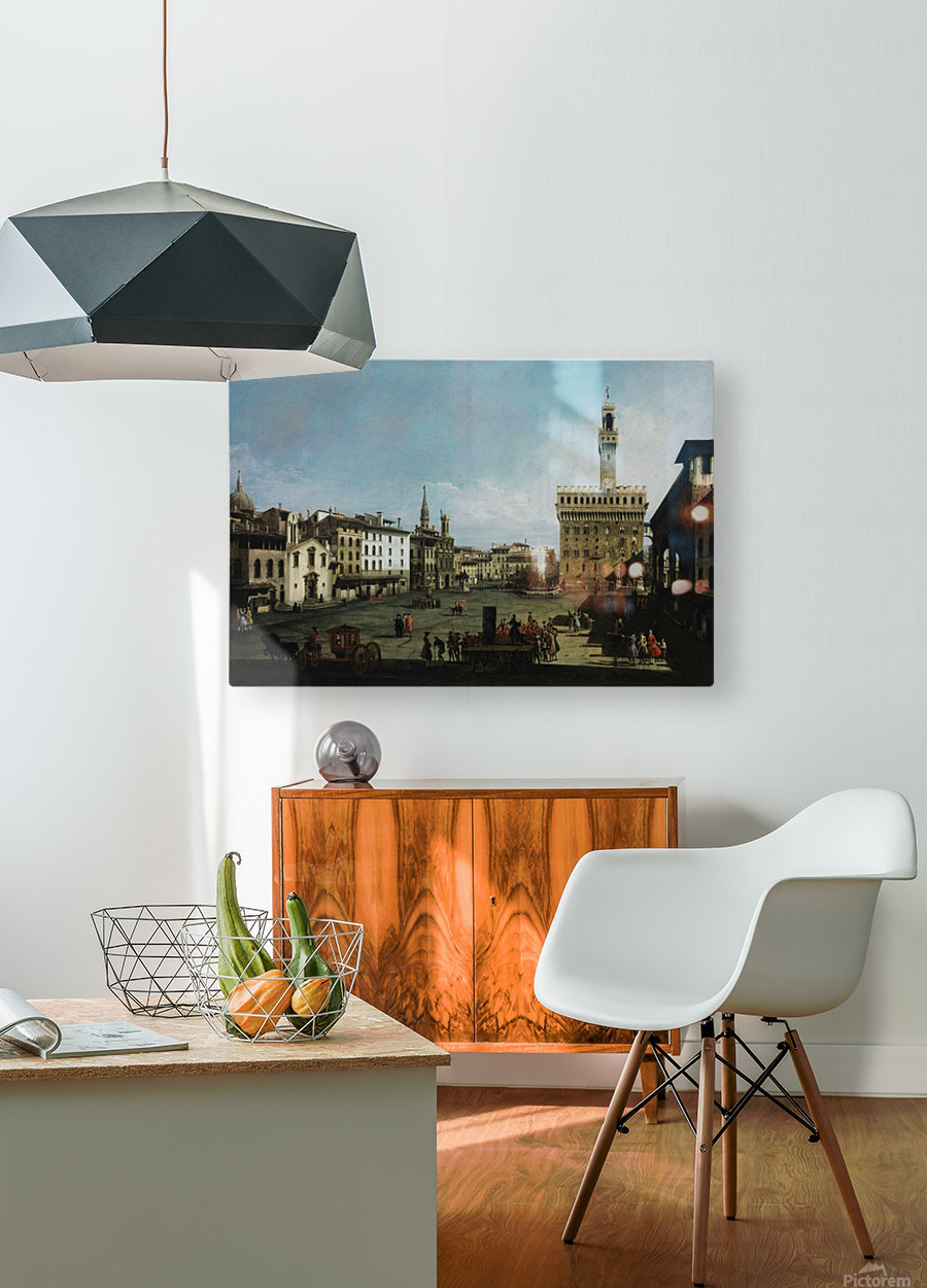 The Piazza della Signoria in Florence  HD Metal print with Floating Frame on Back