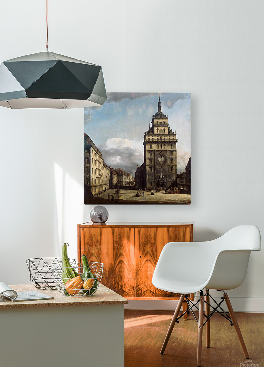 The Kreuzkirche in Dresden  HD Metal print with Floating Frame on Back
