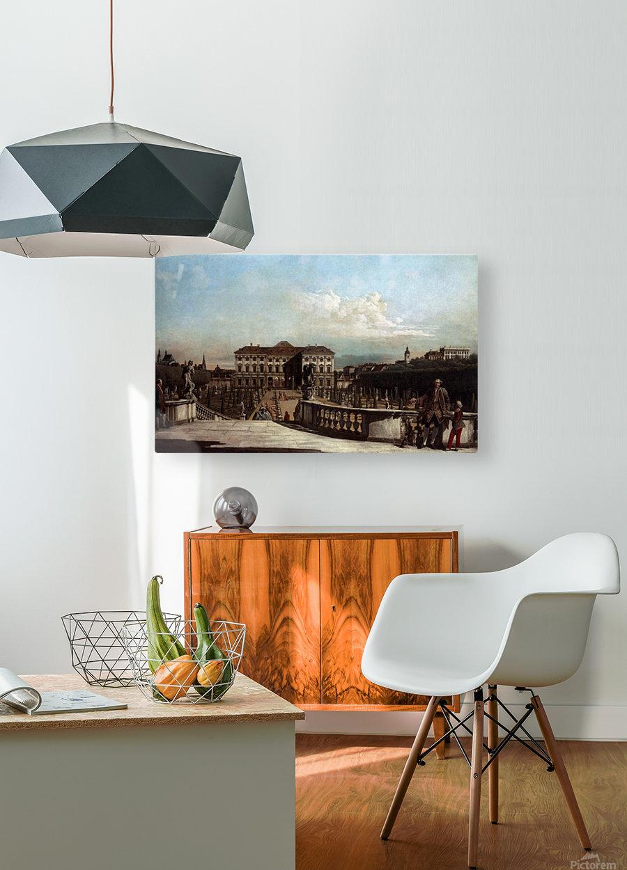 Liechtenstein Garden Palace in Vienna  HD Metal print with Floating Frame on Back