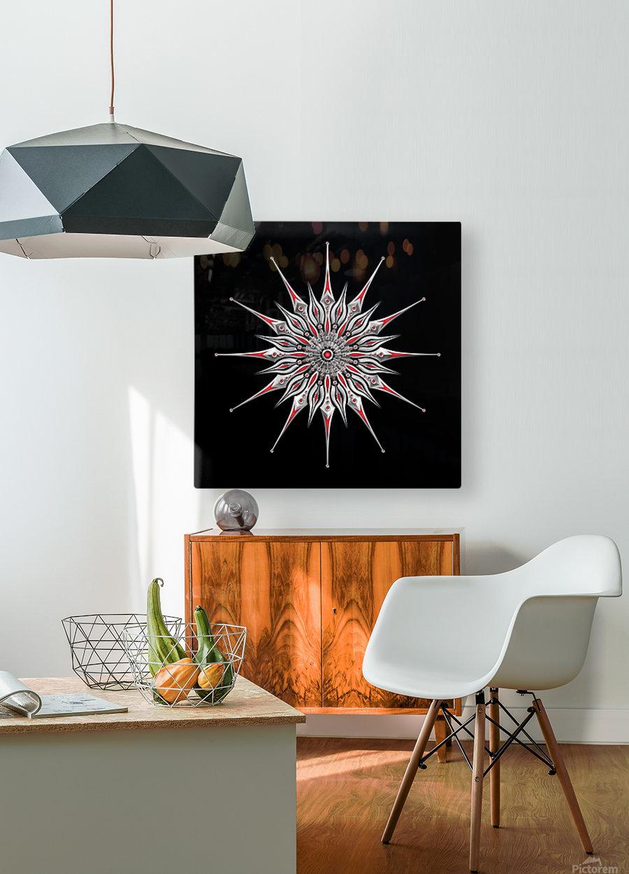Starfish Fusion Mandala  HD Metal print with Floating Frame on Back