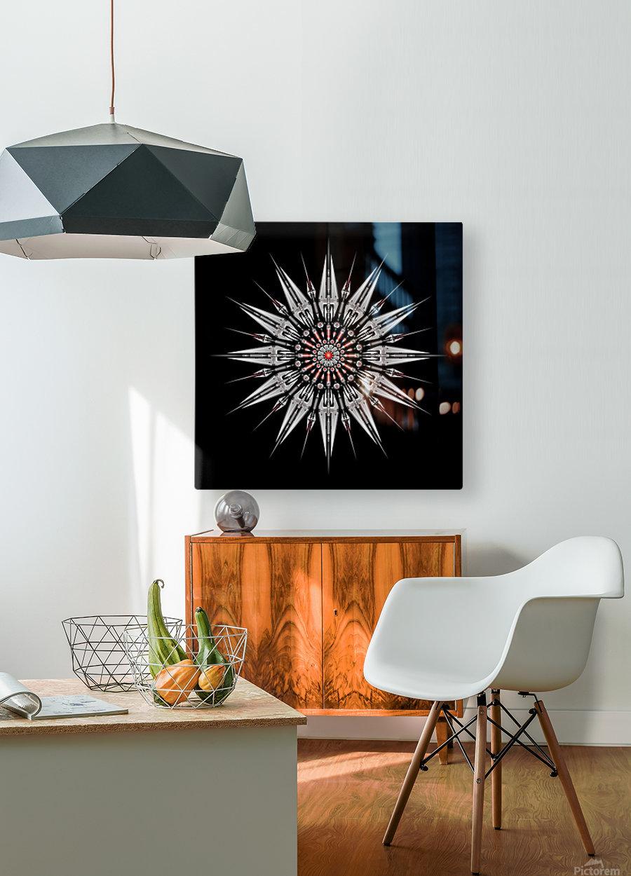 Garnet Reactor Mandala  HD Metal print with Floating Frame on Back