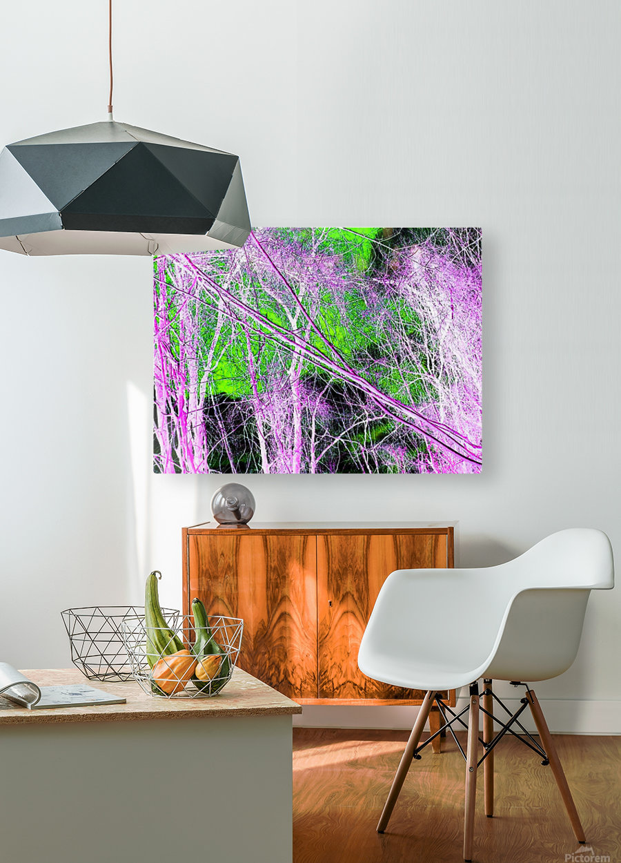 Tree on a Line  HD Metal print with Floating Frame on Back
