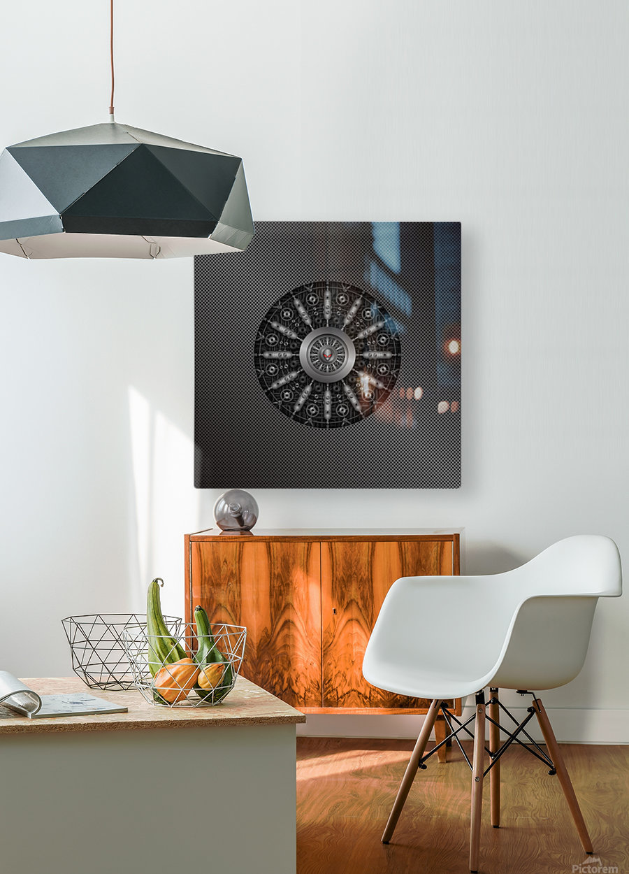Altered Carbon Collider  HD Metal print with Floating Frame on Back