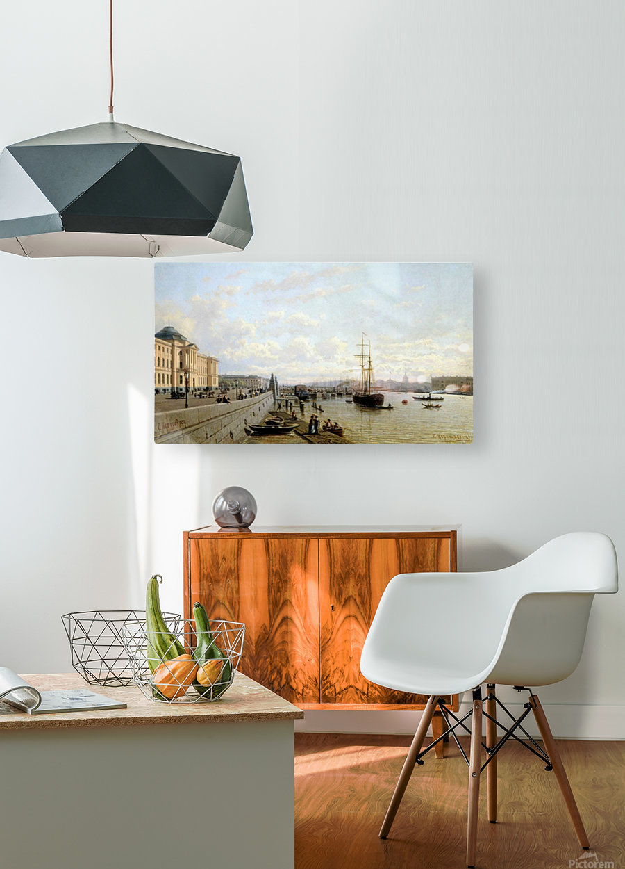City view  HD Metal print with Floating Frame on Back