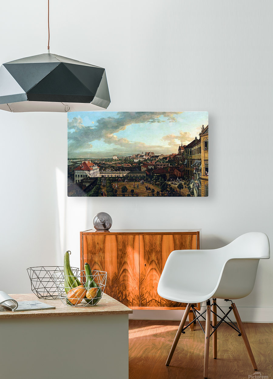 View of Warsaw from the terrace of the Royal Castle  HD Metal print with Floating Frame on Back