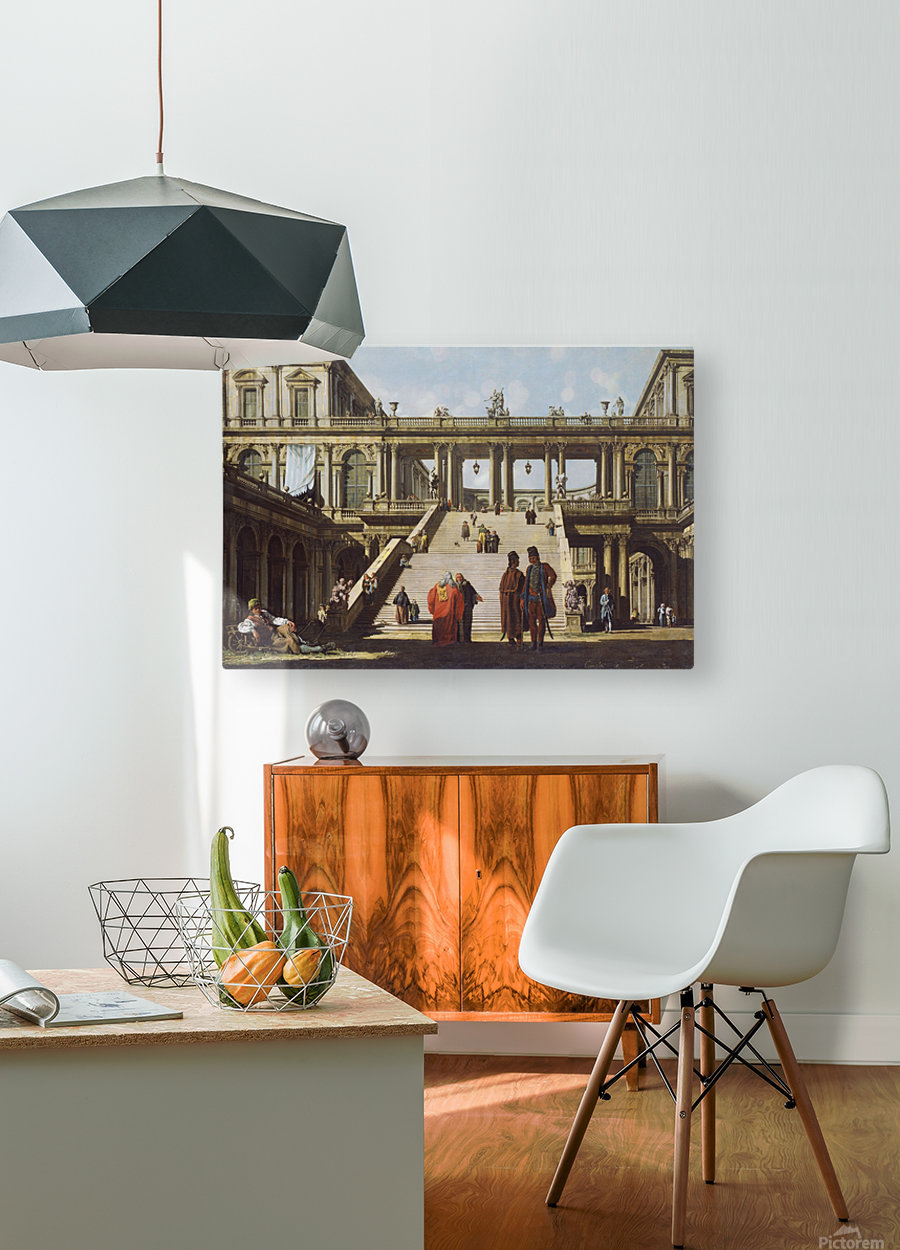 Street scene outside palace  HD Metal print with Floating Frame on Back