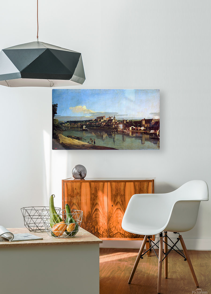 The Hermitage Museum. View of Pirna from Posta  HD Metal print with Floating Frame on Back