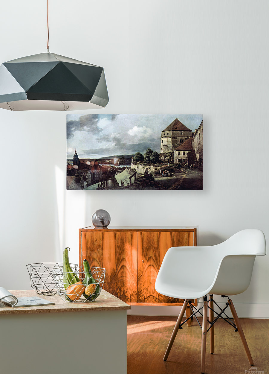 View from Pirna  HD Metal print with Floating Frame on Back