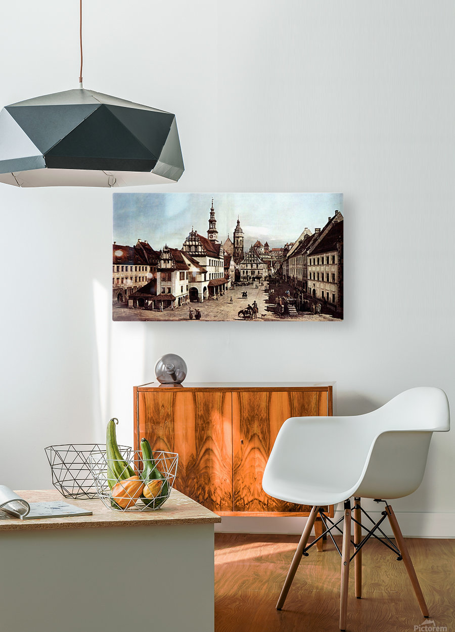City of Pirna  HD Metal print with Floating Frame on Back