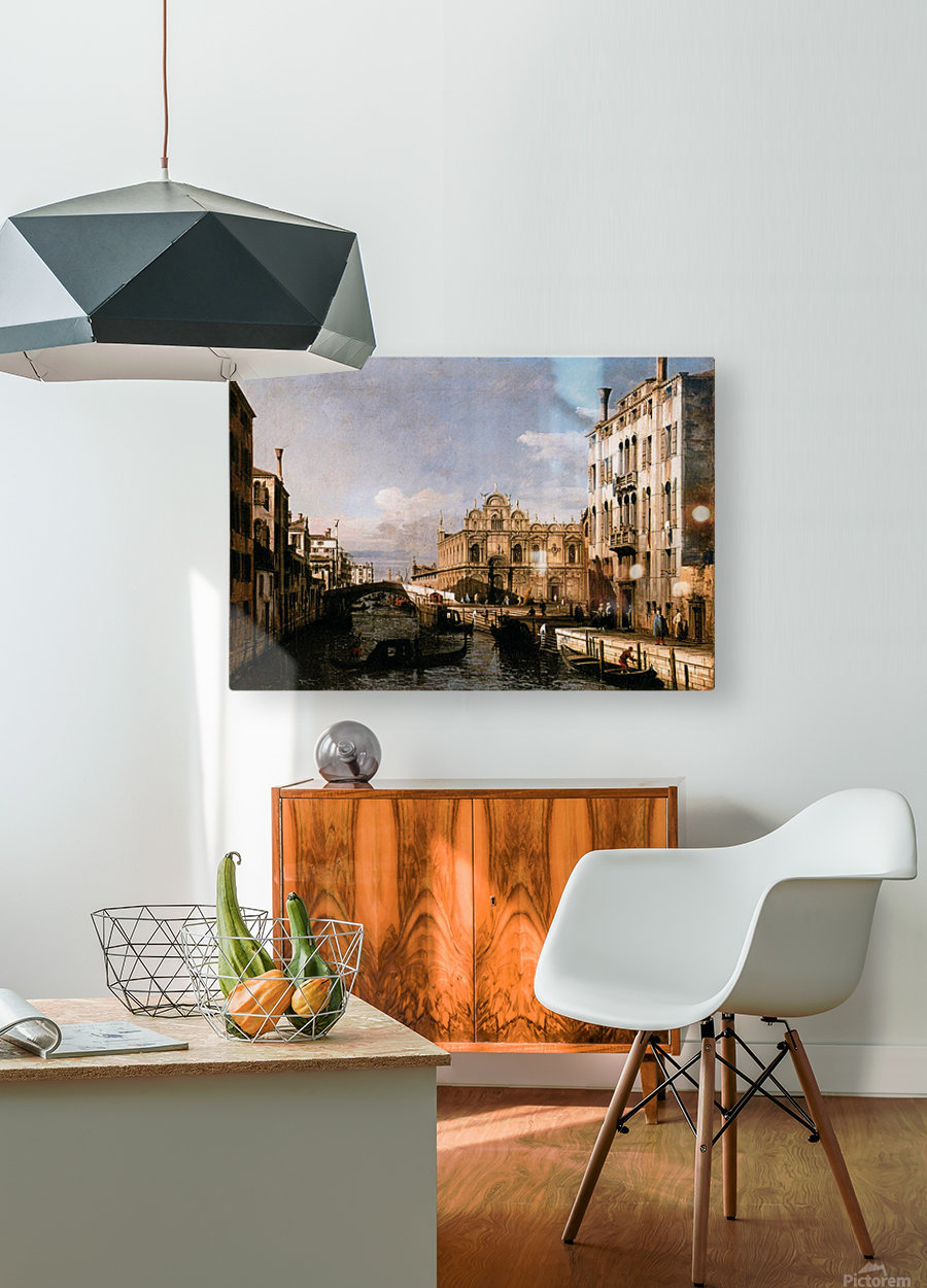 Rio dei Mendicanti with the Scuola di San Marco  HD Metal print with Floating Frame on Back