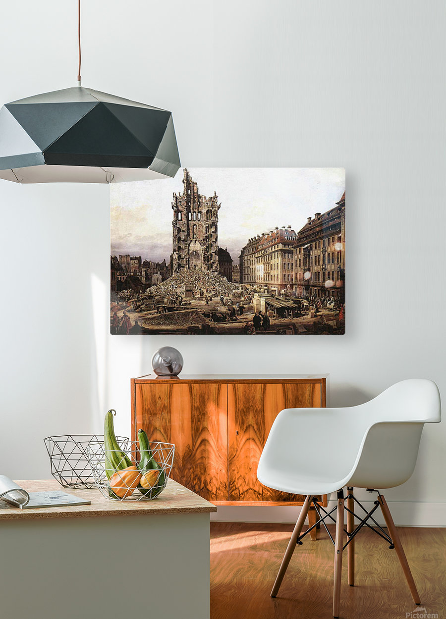 City ruins  HD Metal print with Floating Frame on Back