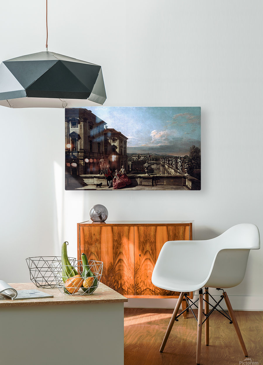 Liechtenstein Garden Palace in Vienna Seen from the East  HD Metal print with Floating Frame on Back