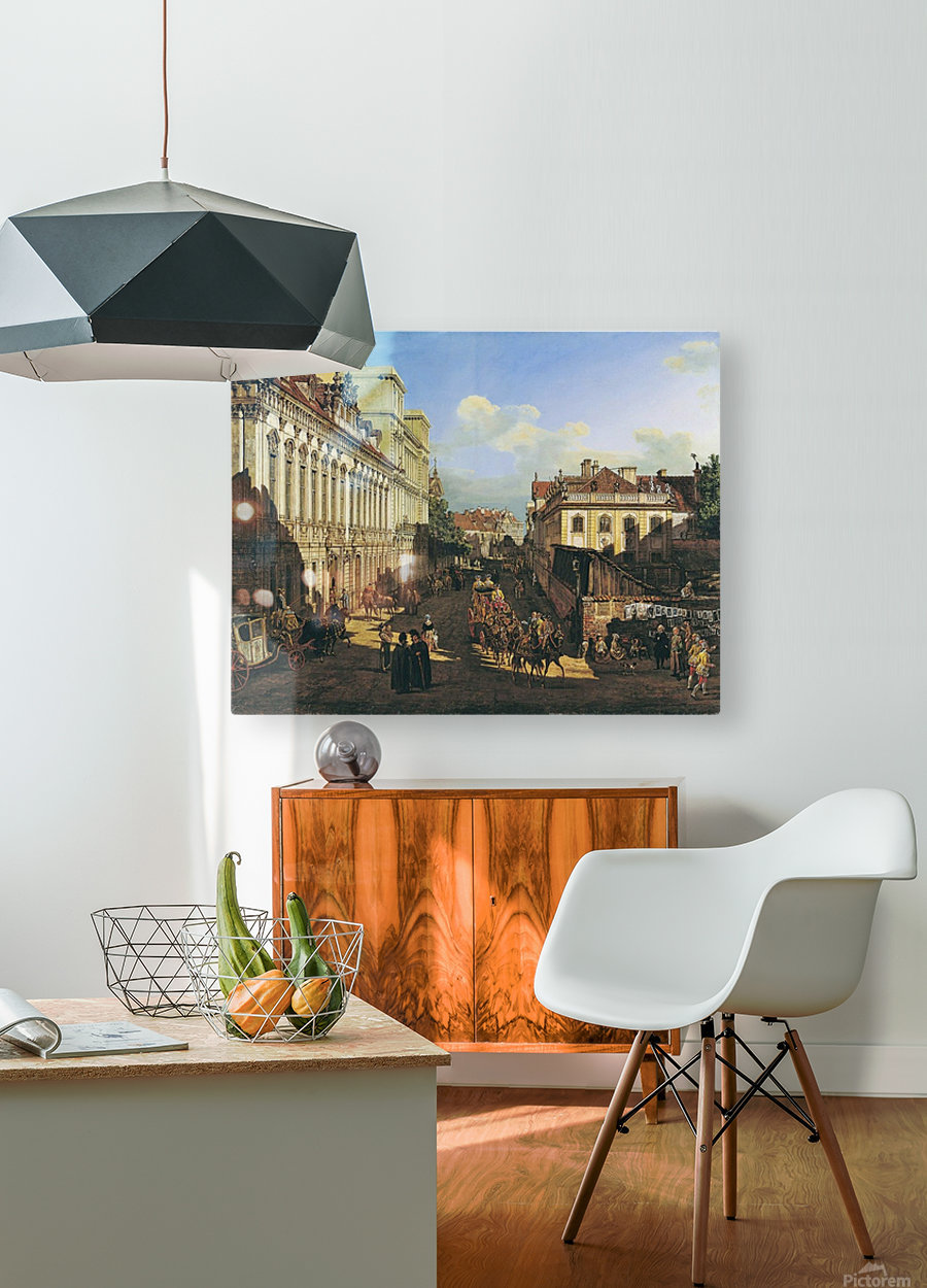 Miodowa Street in Warsaw  HD Metal print with Floating Frame on Back