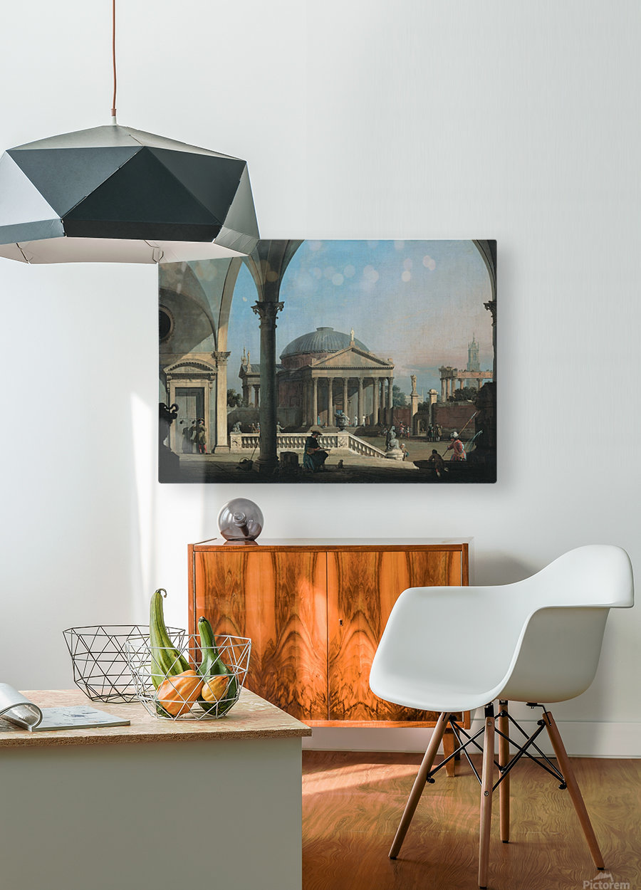 Caprice avec des ruines classiques  HD Metal print with Floating Frame on Back