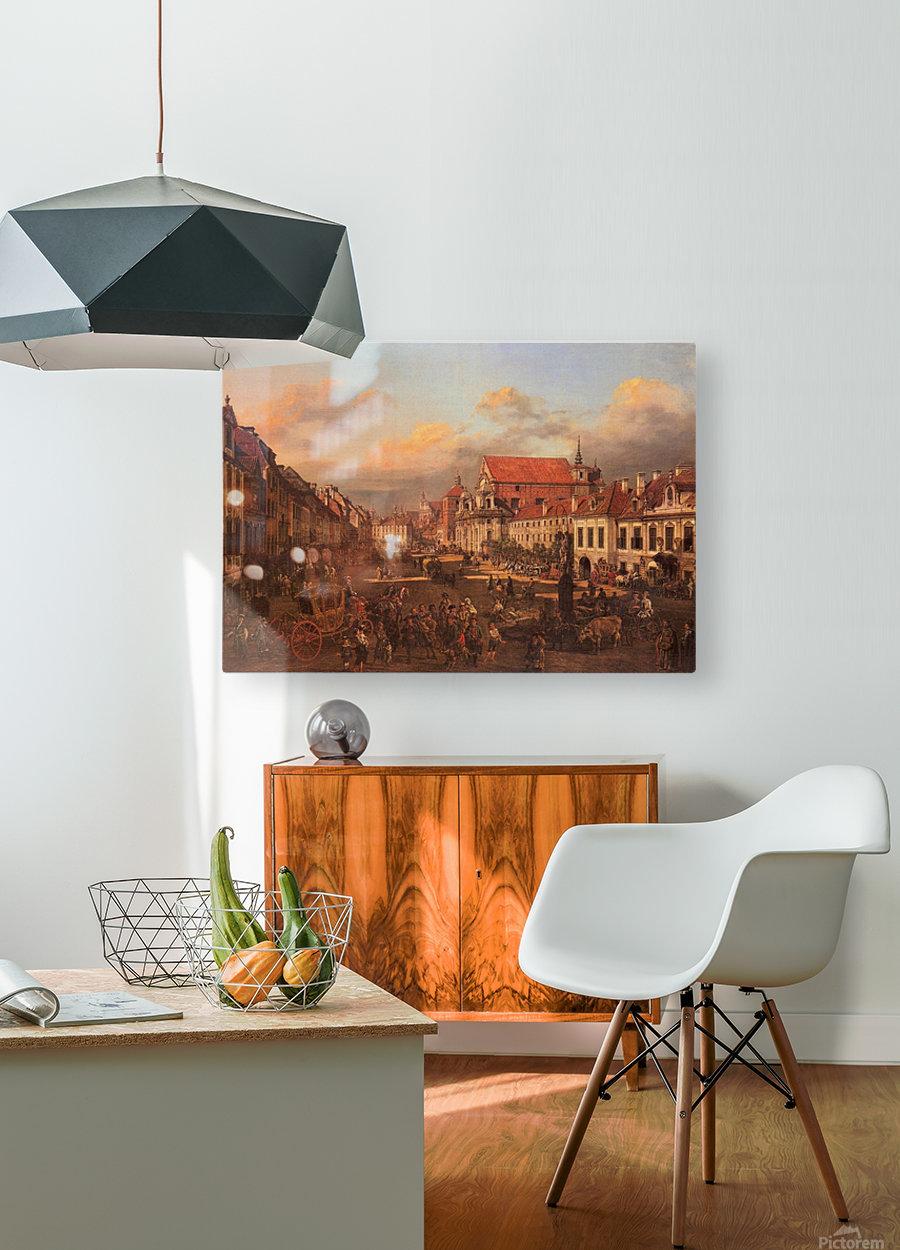 Die Altstadt wurde nach dem Krieg nach alten  HD Metal print with Floating Frame on Back