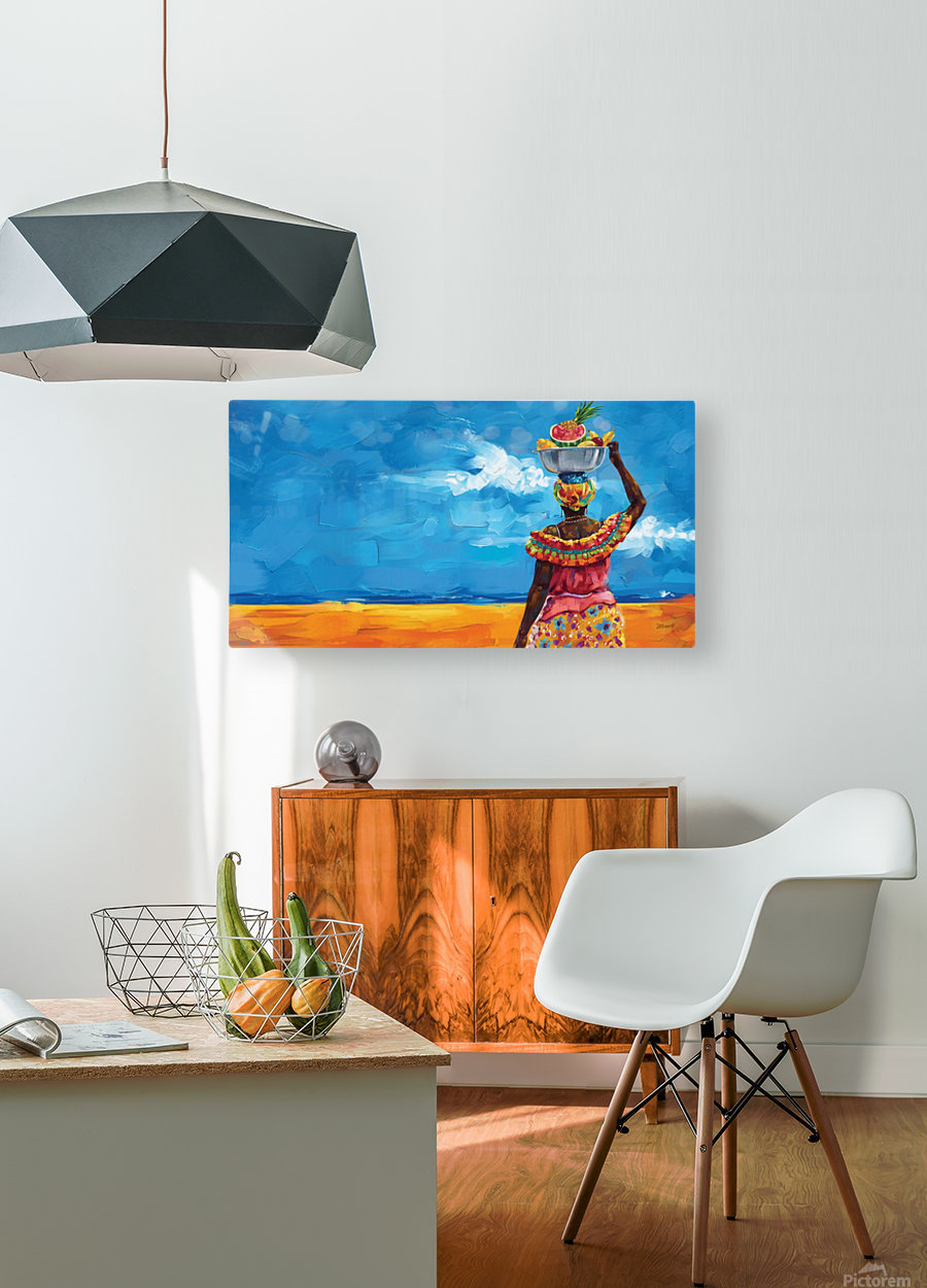 PALENQUERA  HD Metal print with Floating Frame on Back