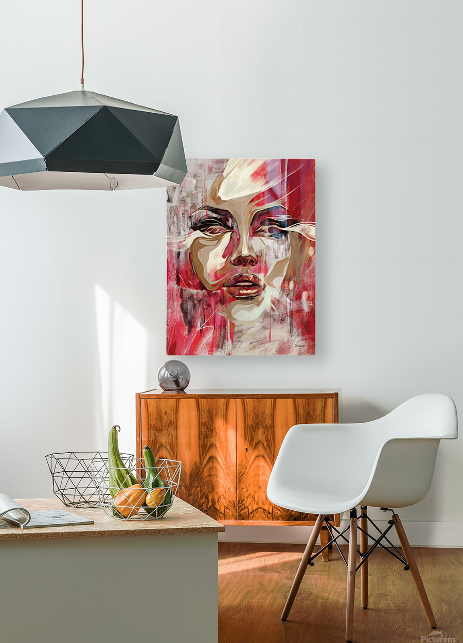 SENTIDOS DE MUJER  HD Metal print with Floating Frame on Back