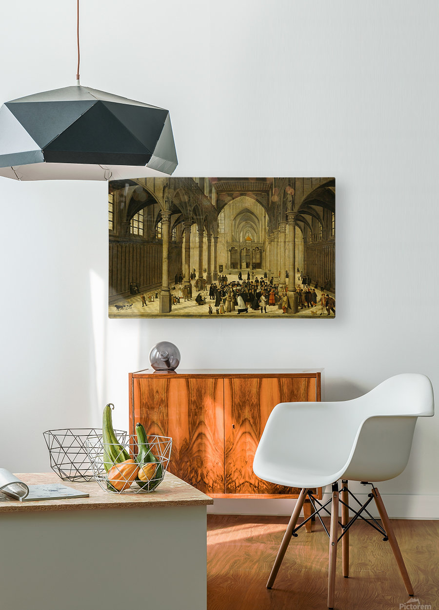 Church interior  HD Metal print with Floating Frame on Back