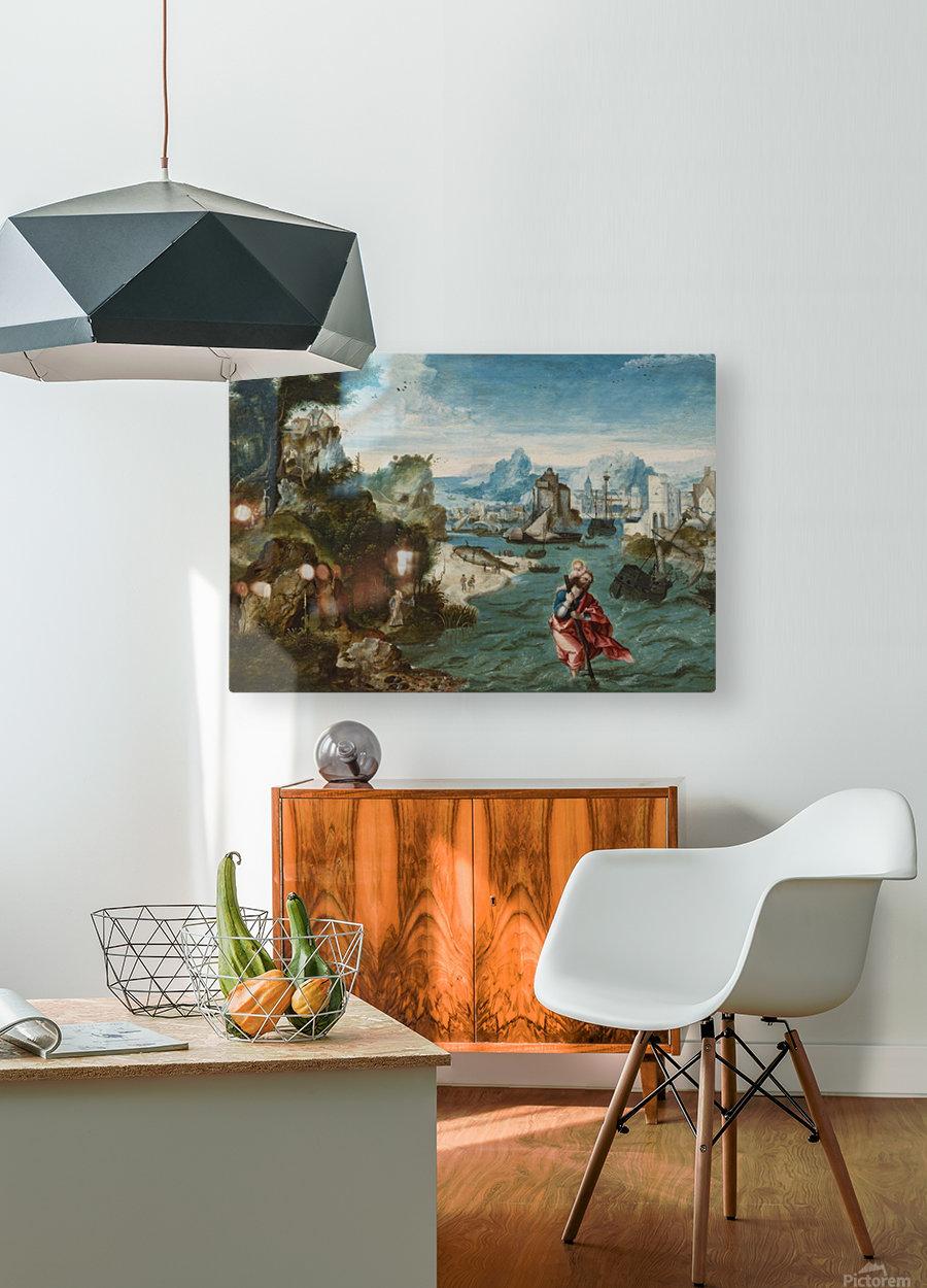 Landschap met Sint Christoffel  HD Metal print with Floating Frame on Back