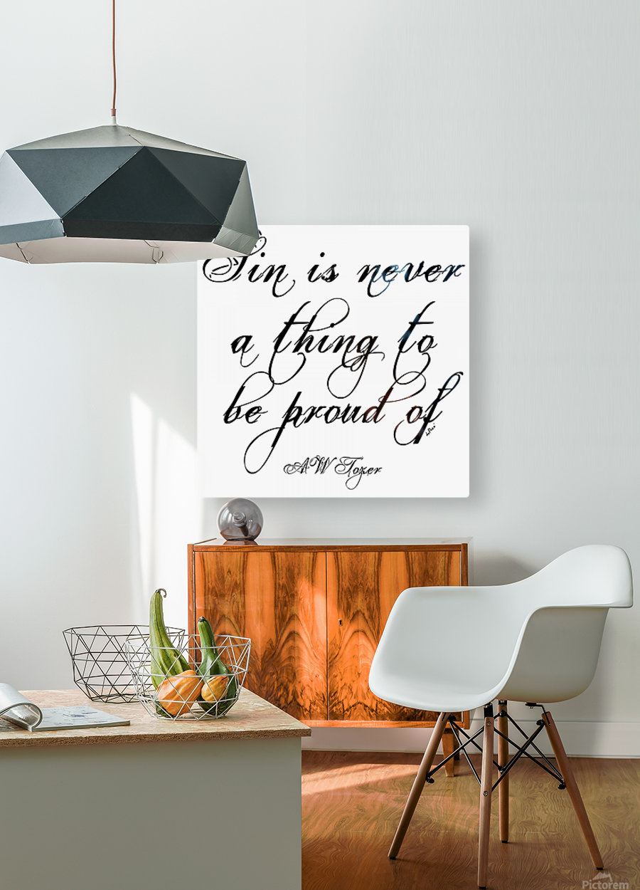 Sin is never a thing to be proud of  HD Metal print with Floating Frame on Back