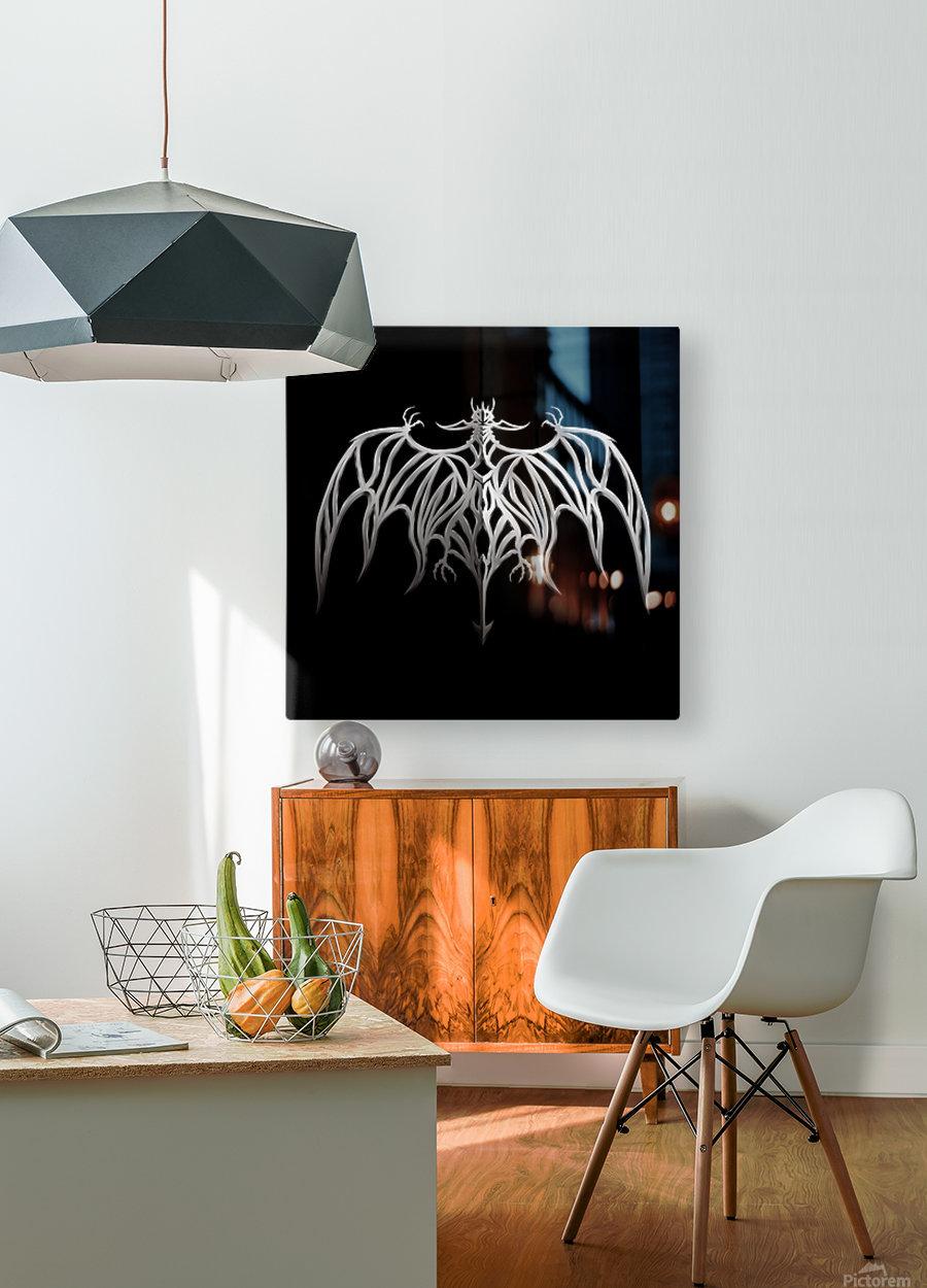 Drakulax Volkanun  HD Metal print with Floating Frame on Back