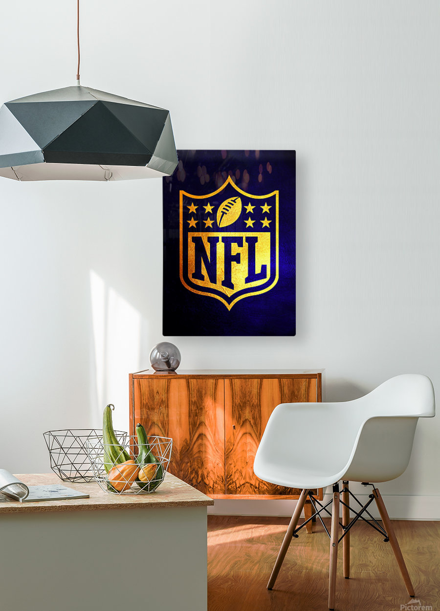Nfl logo Blue Gold Skyline  HD Metal print with Floating Frame on Back