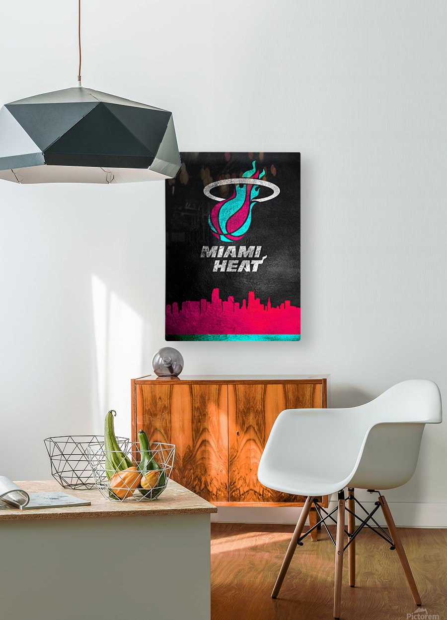 Miami Heat Vice 2  HD Metal print with Floating Frame on Back