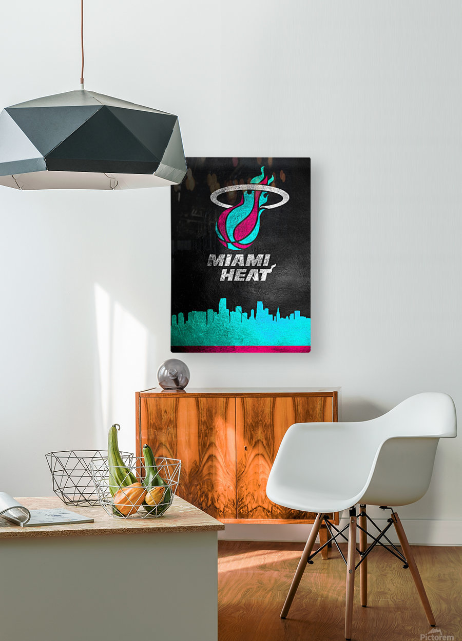 Miami Heat Vice  HD Metal print with Floating Frame on Back