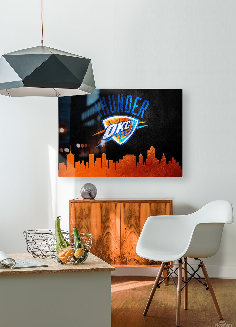 Oklahoma City Thunder  HD Metal print with Floating Frame on Back