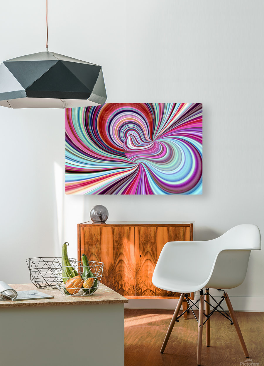 WHIRLWIND 2C  HD Metal print with Floating Frame on Back