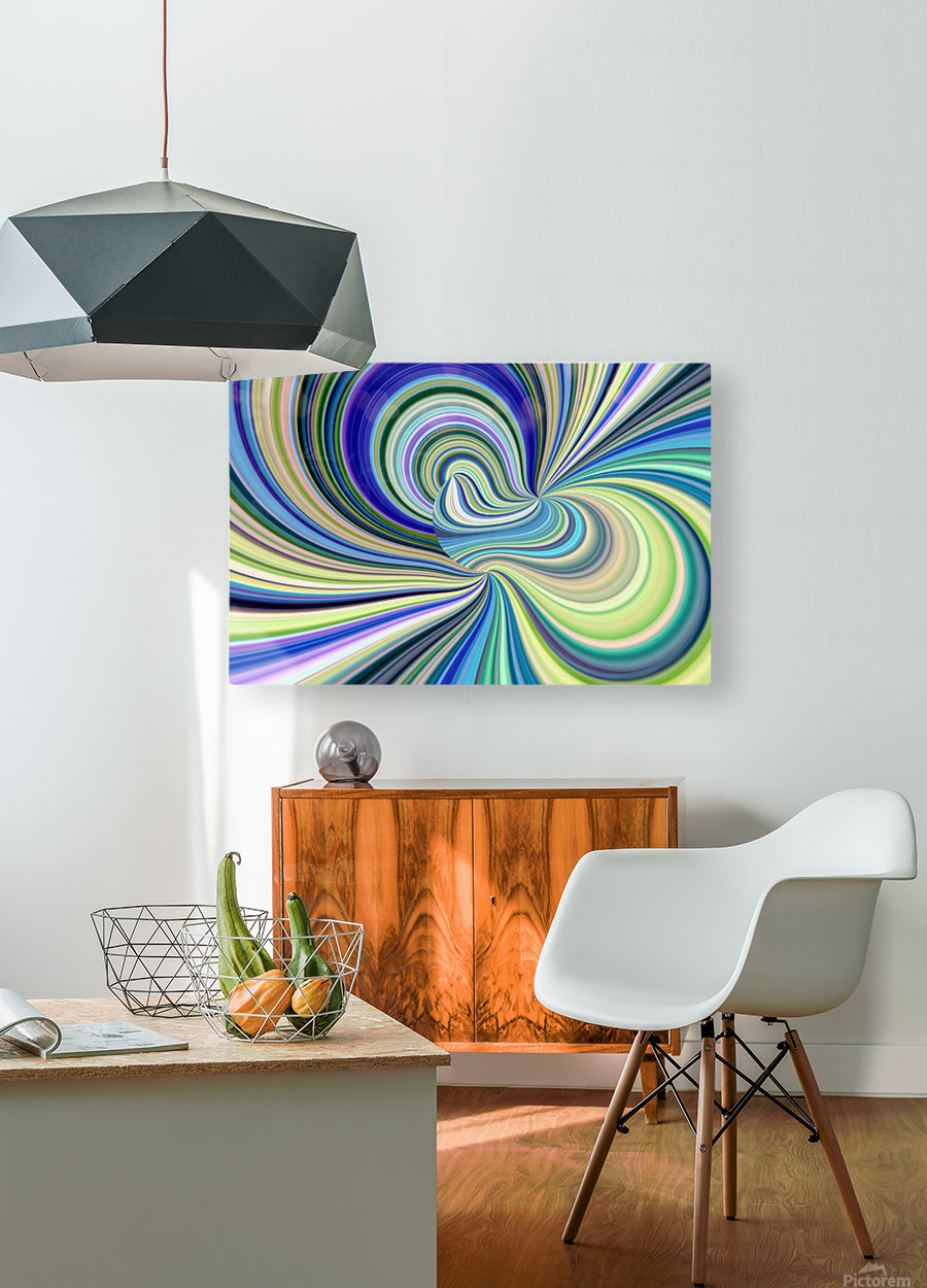 WHIRLWIND 2D  HD Metal print with Floating Frame on Back