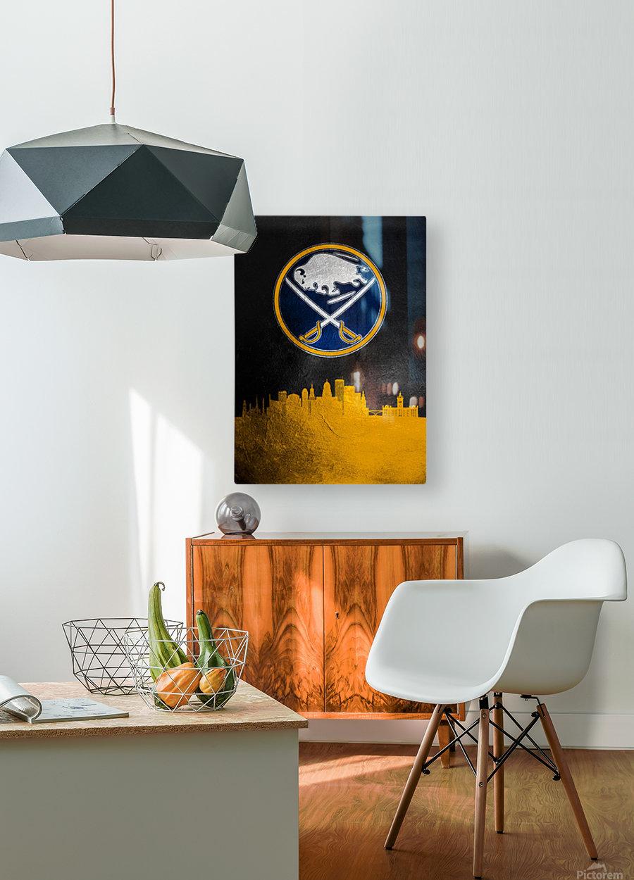 Buffalo Sabres 2  HD Metal print with Floating Frame on Back