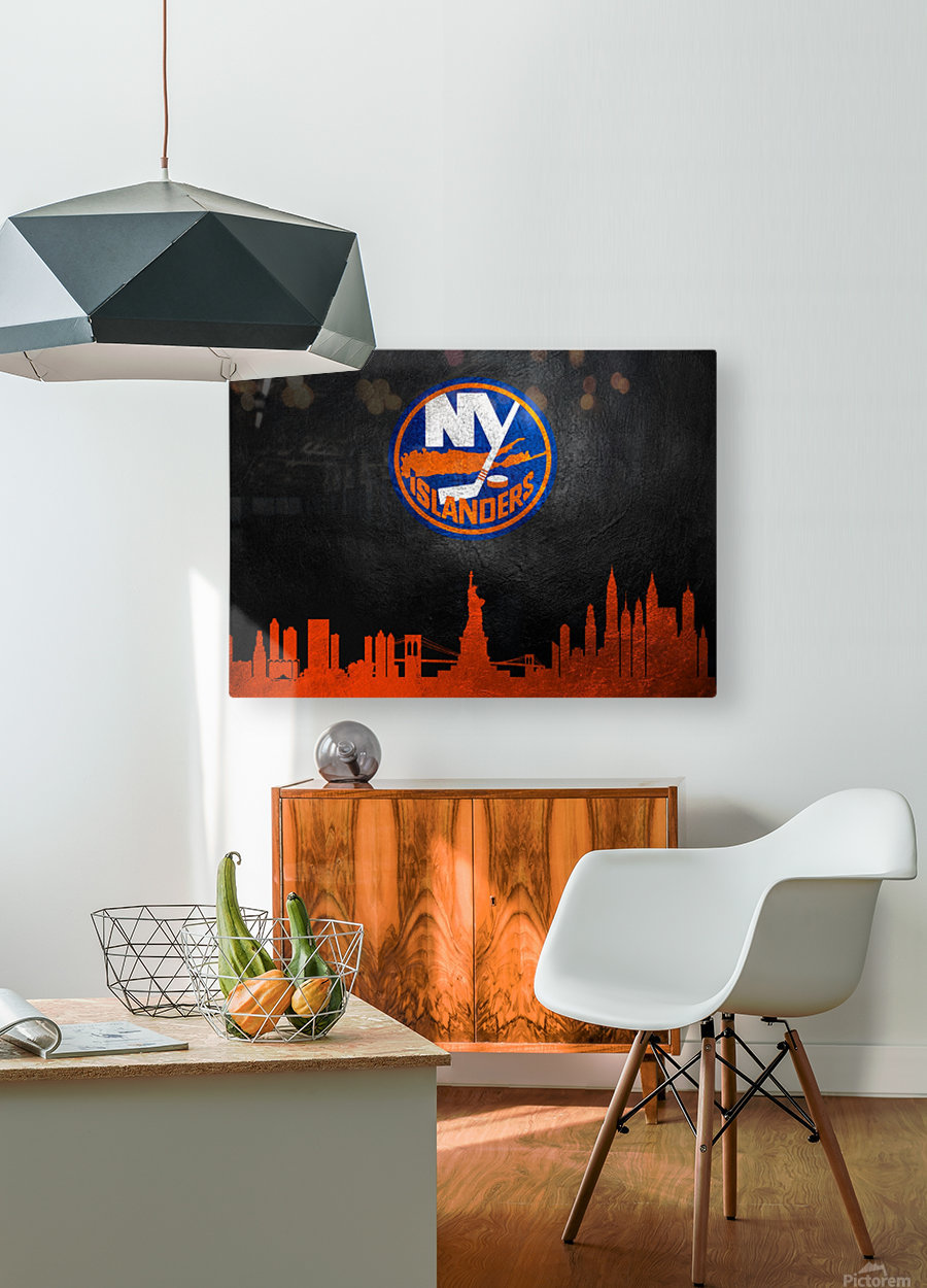 New Jersey Islanders  HD Metal print with Floating Frame on Back