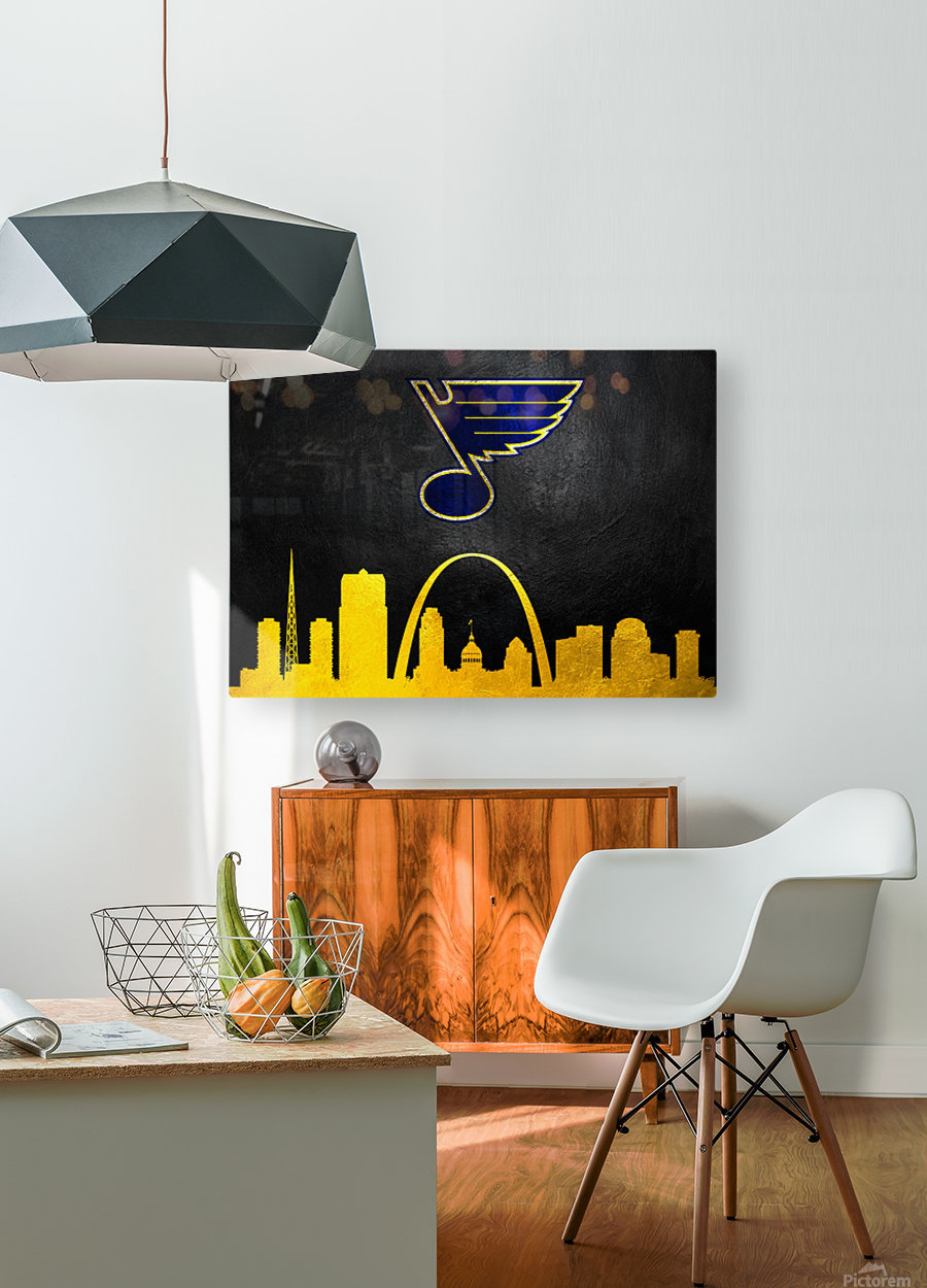 St Louis Blues  HD Metal print with Floating Frame on Back