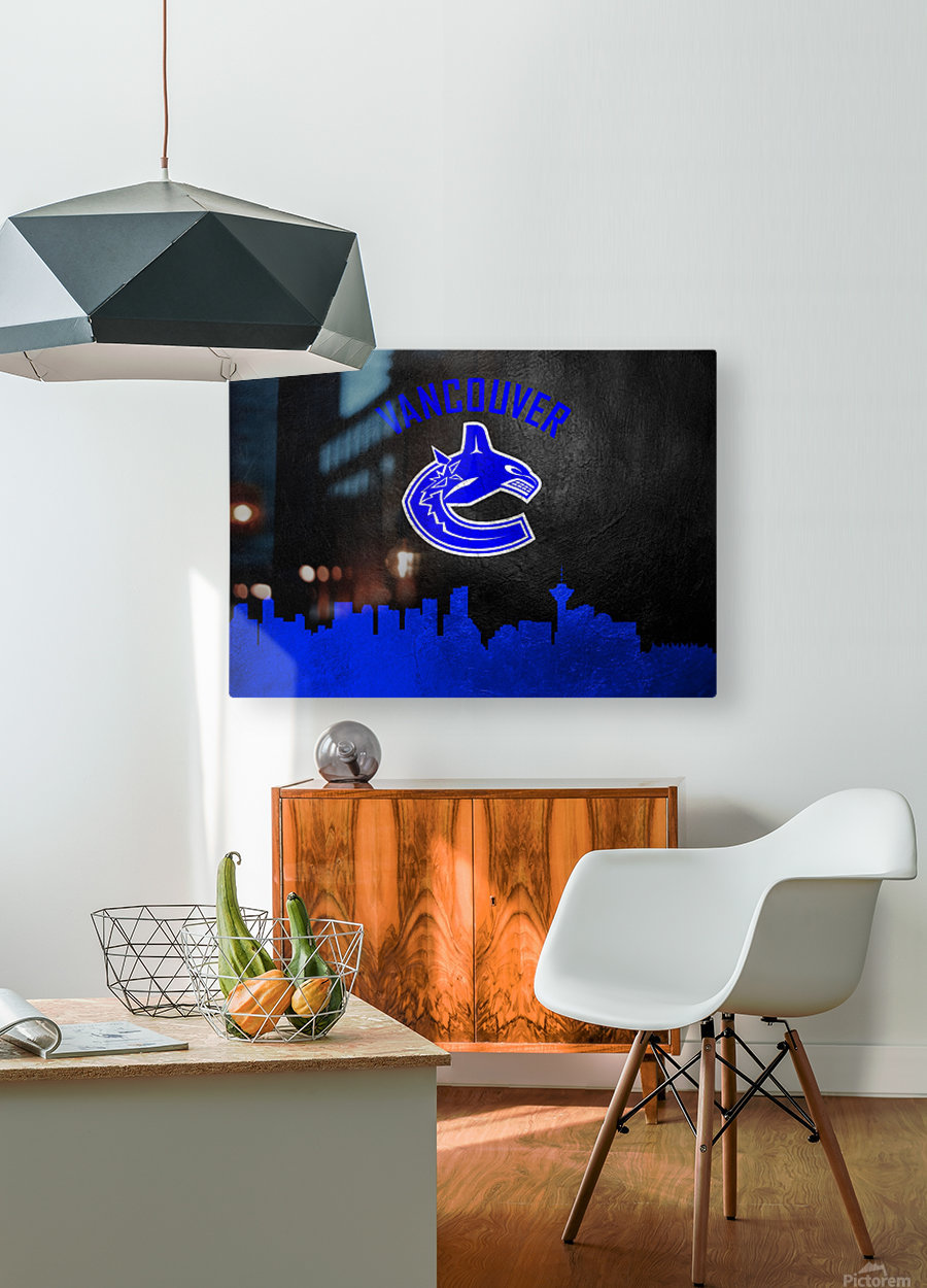 Vancouver Canucks  HD Metal print with Floating Frame on Back