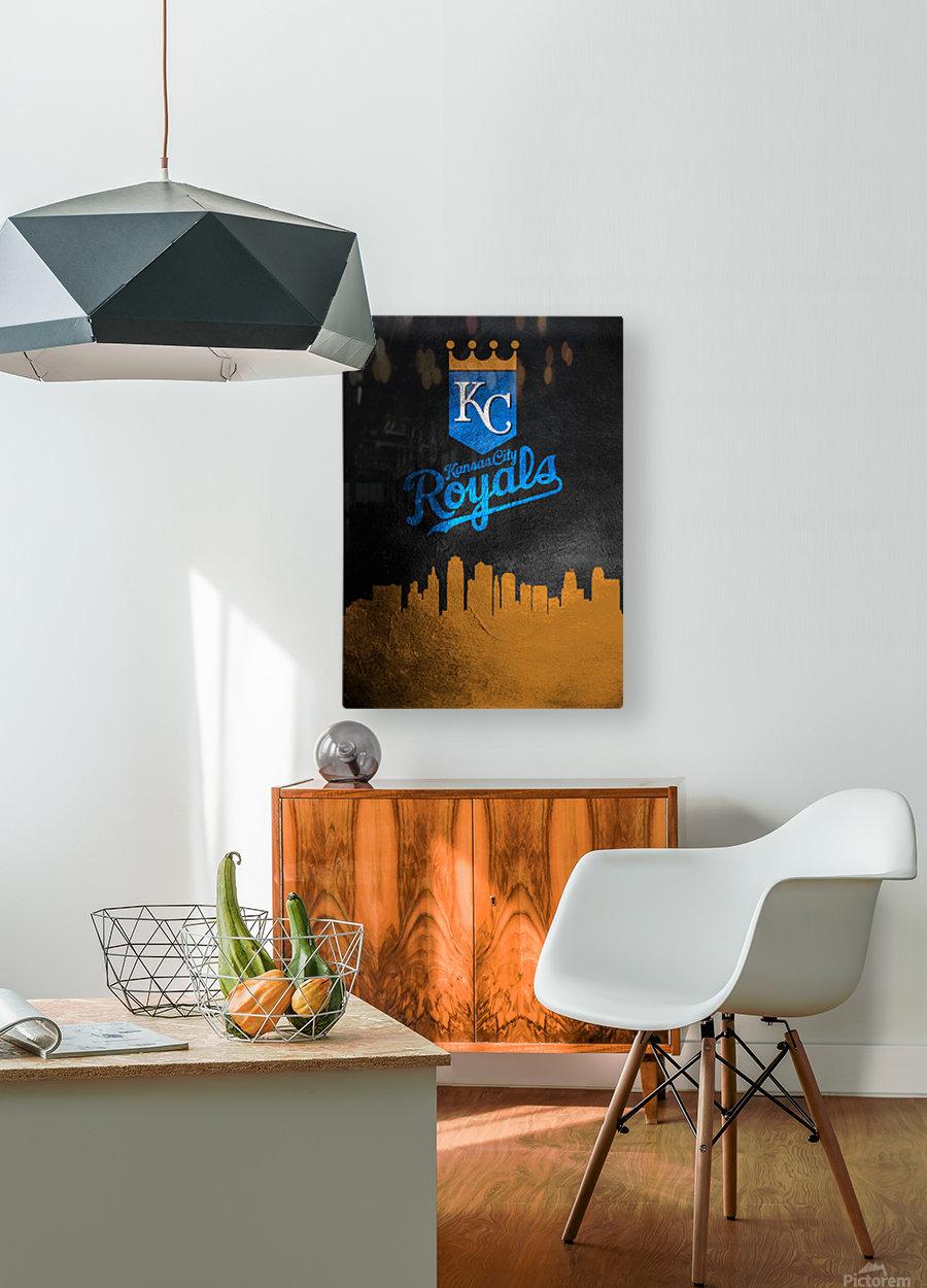 Kansas City Royals  HD Metal print with Floating Frame on Back