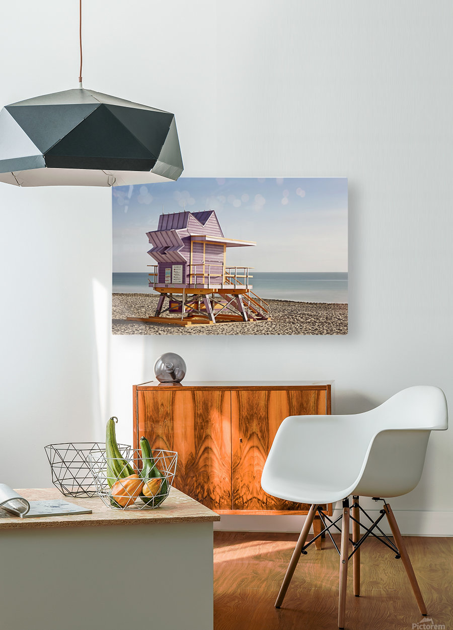 Miami Beach 056  HD Metal print with Floating Frame on Back