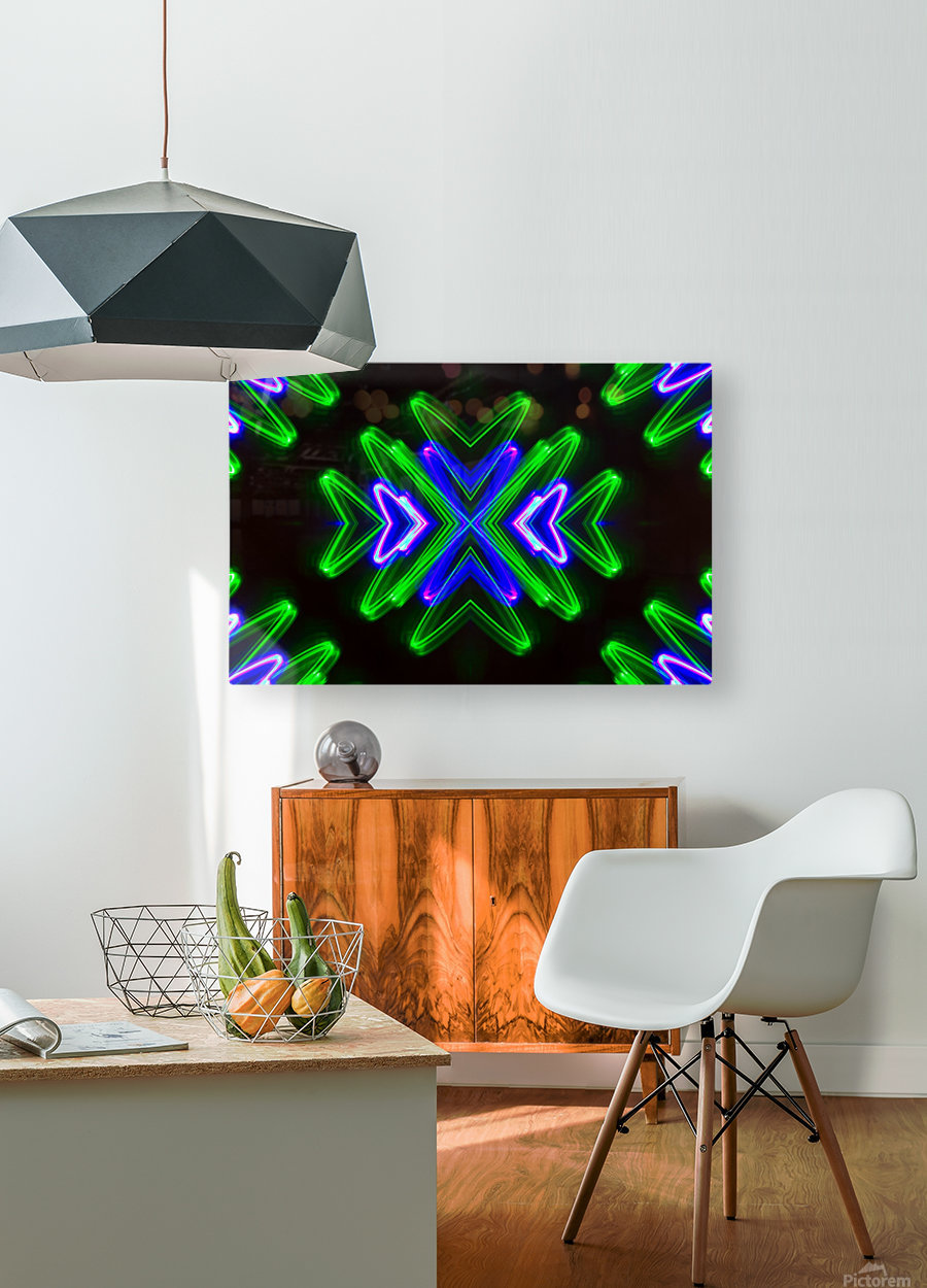 Neon Lights   HD Metal print with Floating Frame on Back