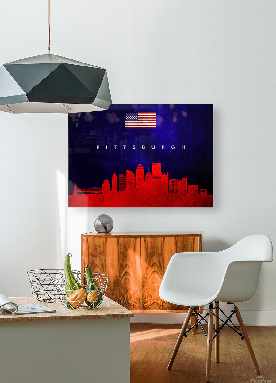 Pittsburgh Pennsylvania  HD Metal print with Floating Frame on Back