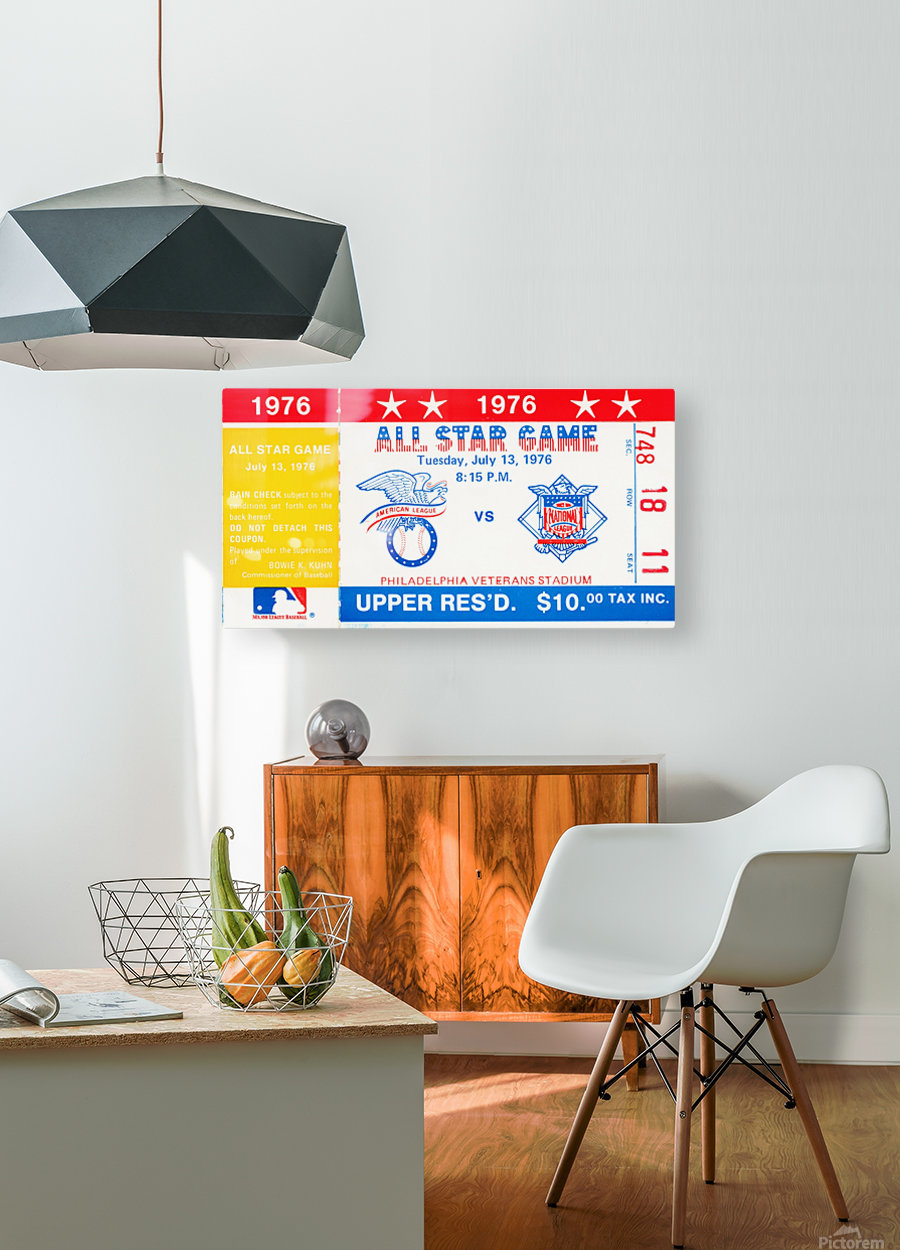 1976 All Star Game  HD Metal print with Floating Frame on Back