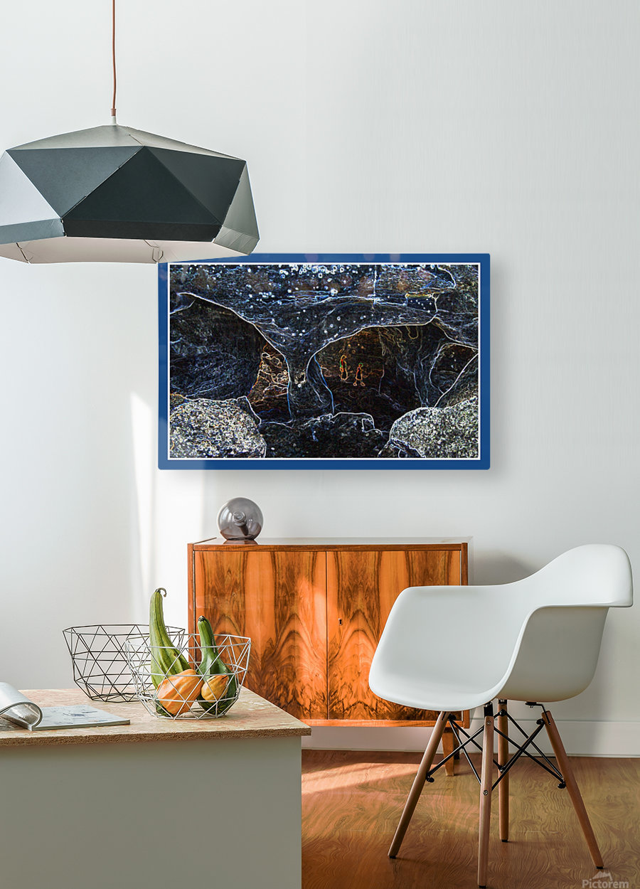 Cave  HD Metal print with Floating Frame on Back