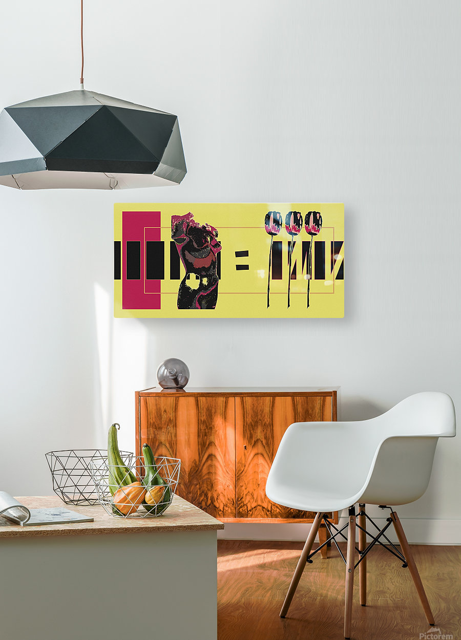 3 Lips  HD Metal print with Floating Frame on Back