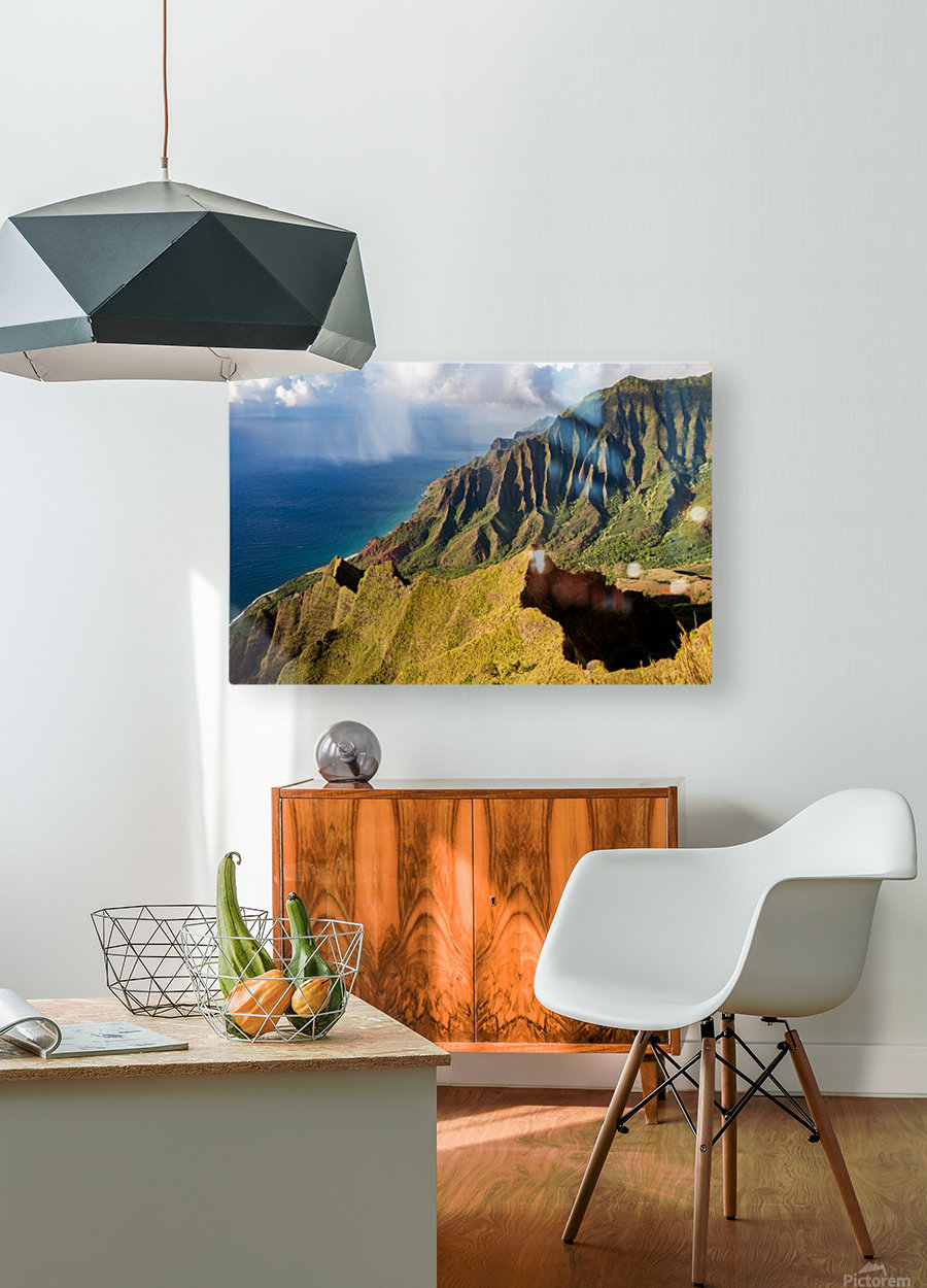 The Cliff Sides of Kauai  HD Metal print with Floating Frame on Back
