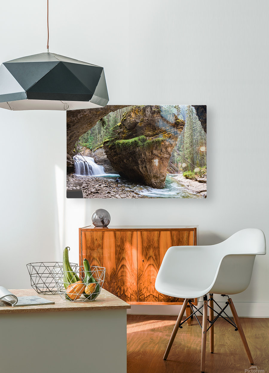 Off Trail  HD Metal print with Floating Frame on Back